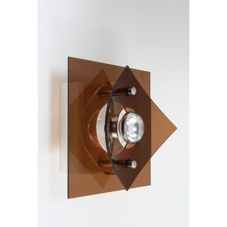 Plexiglazen wandlamp jaren 70