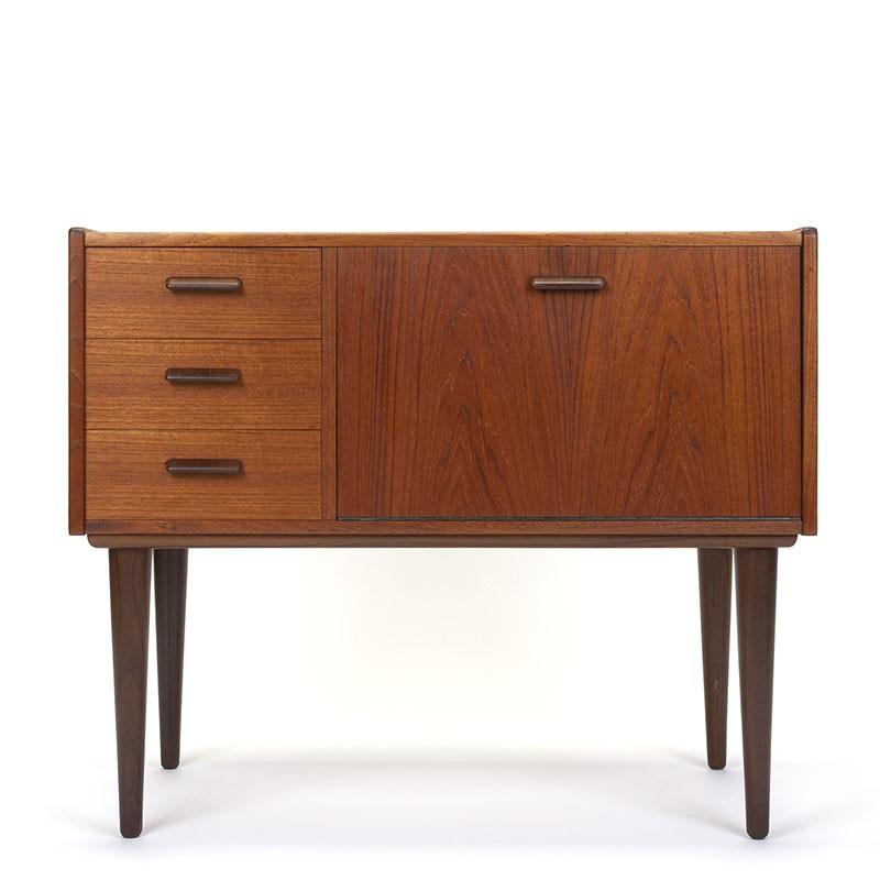 Danish vintage teak small model cabinet