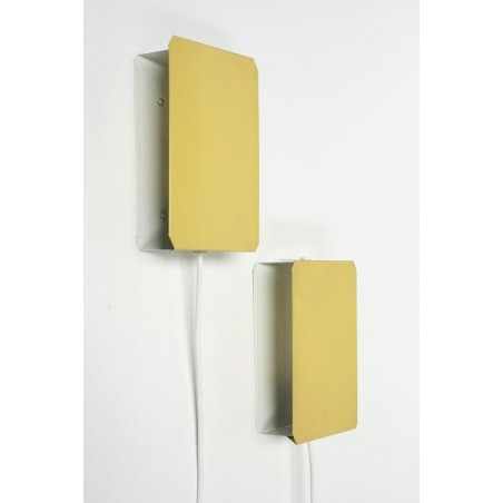 Set of 2 yellow wall lamps