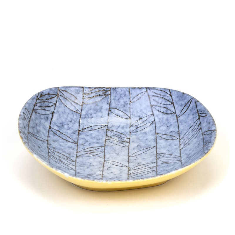 Vintage West Germany Lapis bowl in blue / yellow