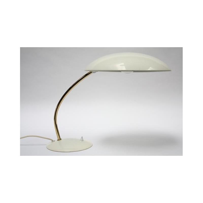 Bureaulamp met creme kleurige kap