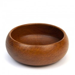 Round teak bowl vintage sixties