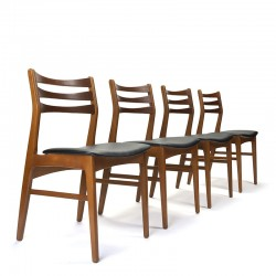 Set van 4 vintage Deense stoelen uit de Faldsled Møbelfabrik