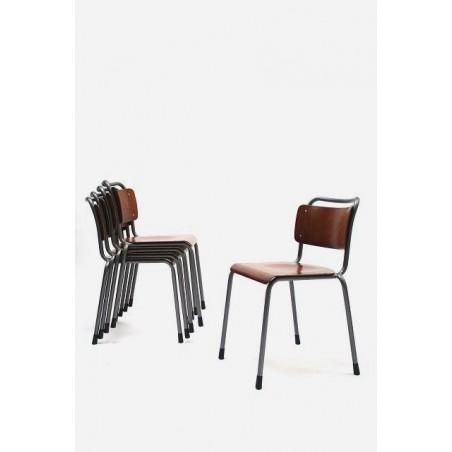 Set van 5 industriele stoelen