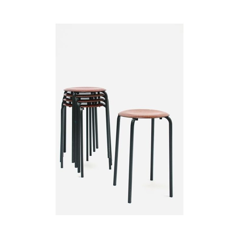 Set of 5 industrial stools