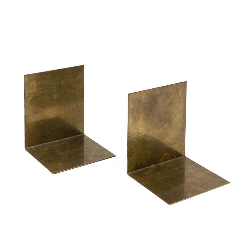 Large model brass bookends vintage set of 2