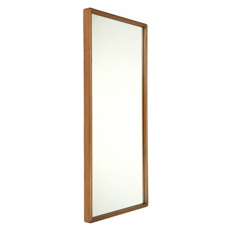 Large model vintage Danish mirror with a thick edge
