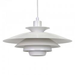 Witte Deense metalen vintage hanglamp