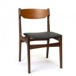 Teakhouten eettafel stoel vintage Deens model