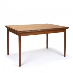 Extendable Danish vintage dining table from the sixties