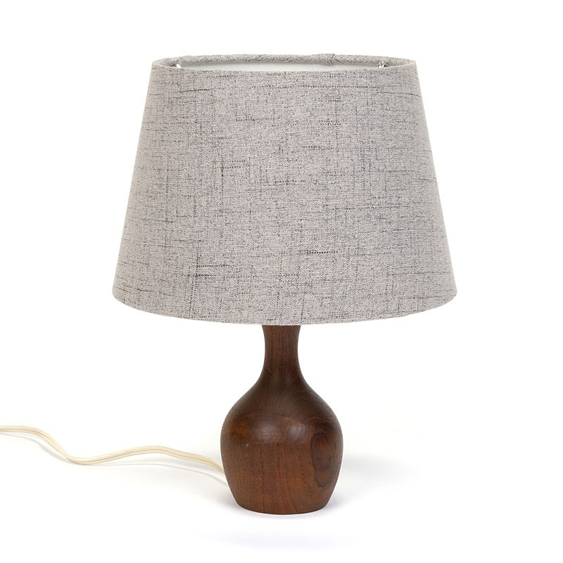 Small Danish vintage table lamp with gray shade