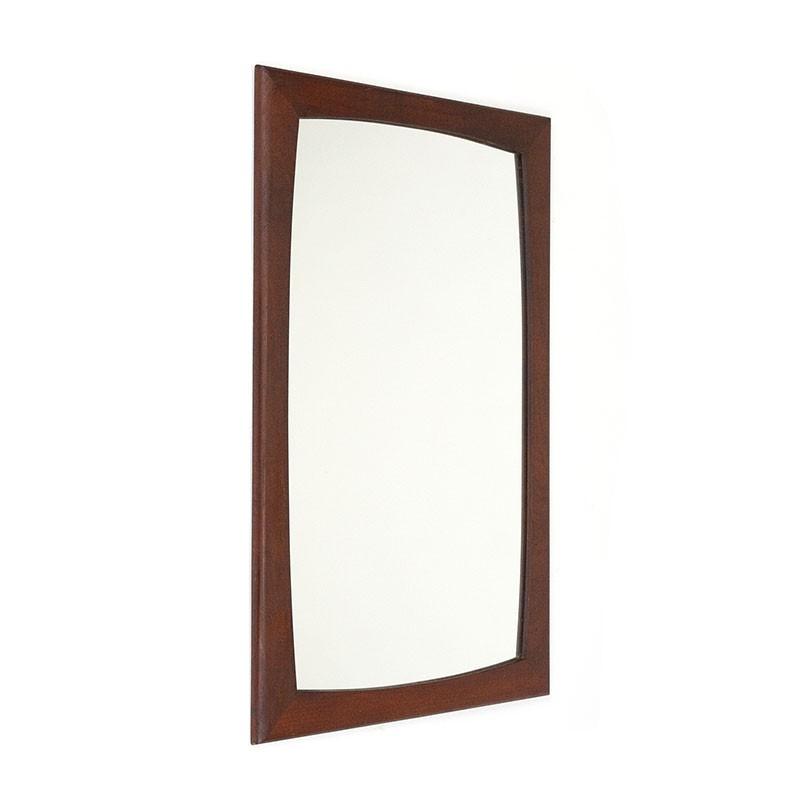 Small model vintage Danish mirror with dark frame