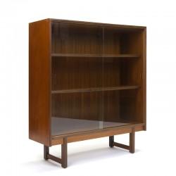 Vintage teak sixties display cabinet