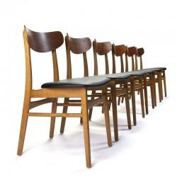 Mid-Century Deense vintage design set van 6 stoelen