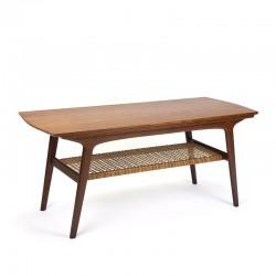 Deense vintage Mid-Century design salontafel in teak
