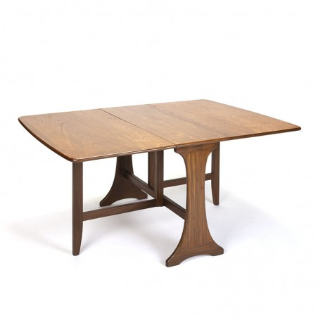 Teak vintage cate leg dining table
