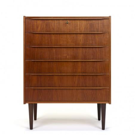 Danish Mid-Century vintage chest of drawers in teak