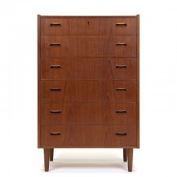 Teak vintage Danish Mid-Century chest of drawers