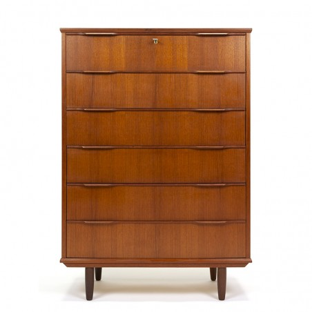 Large model vintage Danish Mid-Century chest of drawers