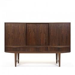 Palissander houten vintage dressoir ontwerp E.W. Bach