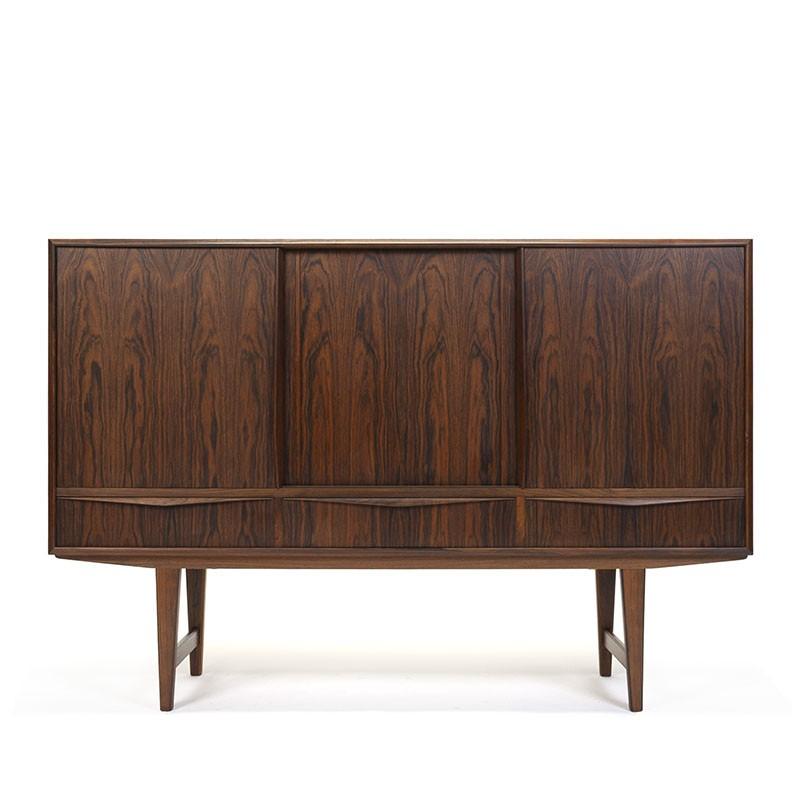 Rosewood wooden vintage sideboard design E.W. Bach