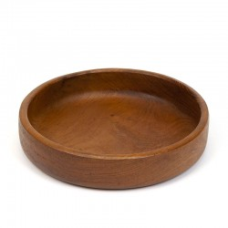 Low model vintage Danish salad bowl in teak