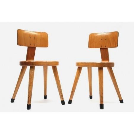 Set of 2 childs school chairs