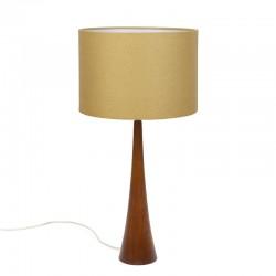 Deense vintage design tafellamp met teakhouten voet