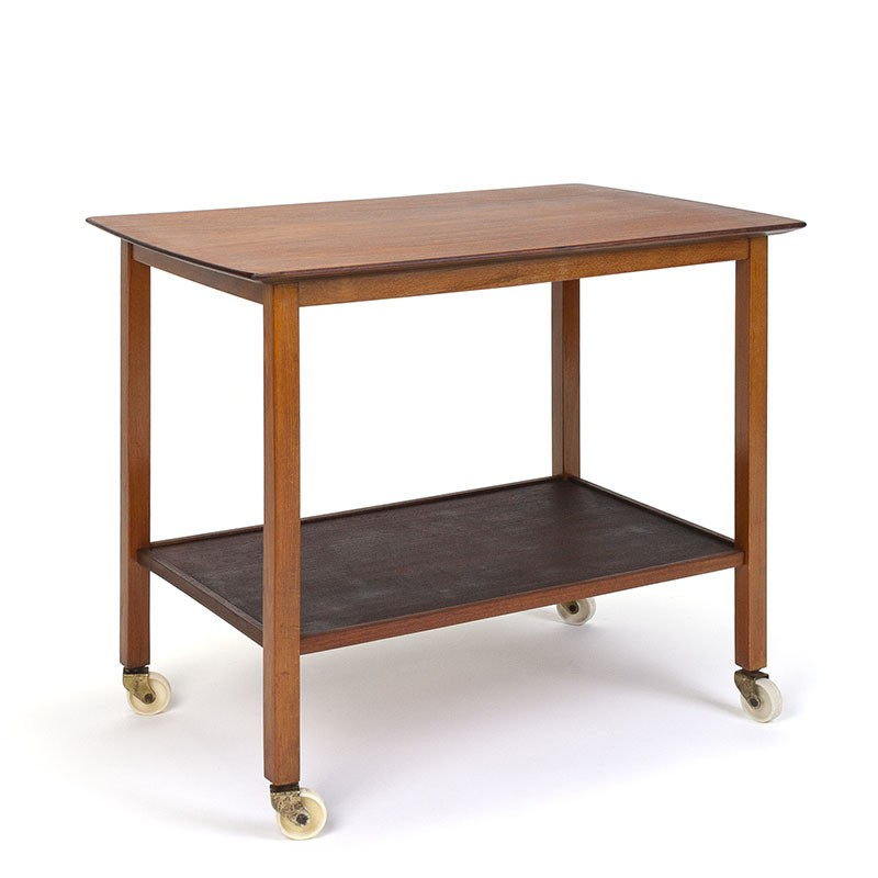 Teak vintage trolley or side table