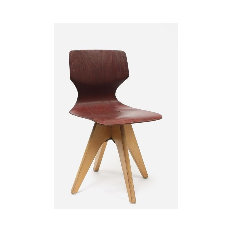 Child's chair with wooden base