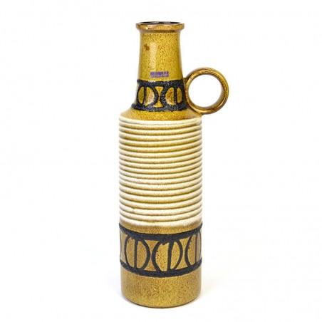 Large model vintage Scheurich vase in ocher