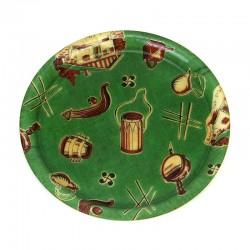 Groen vintage fiberglas jaren 50 dienblad
