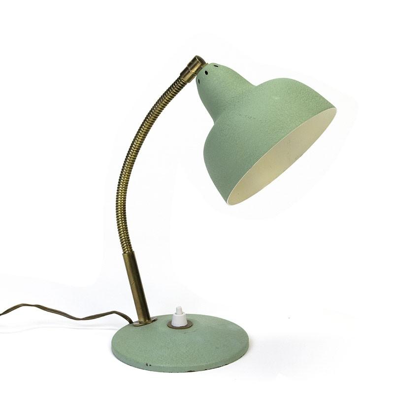 Groen vijftiger jaren vintage tafellampje