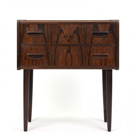 Palissander houten vintage klein model ladekast