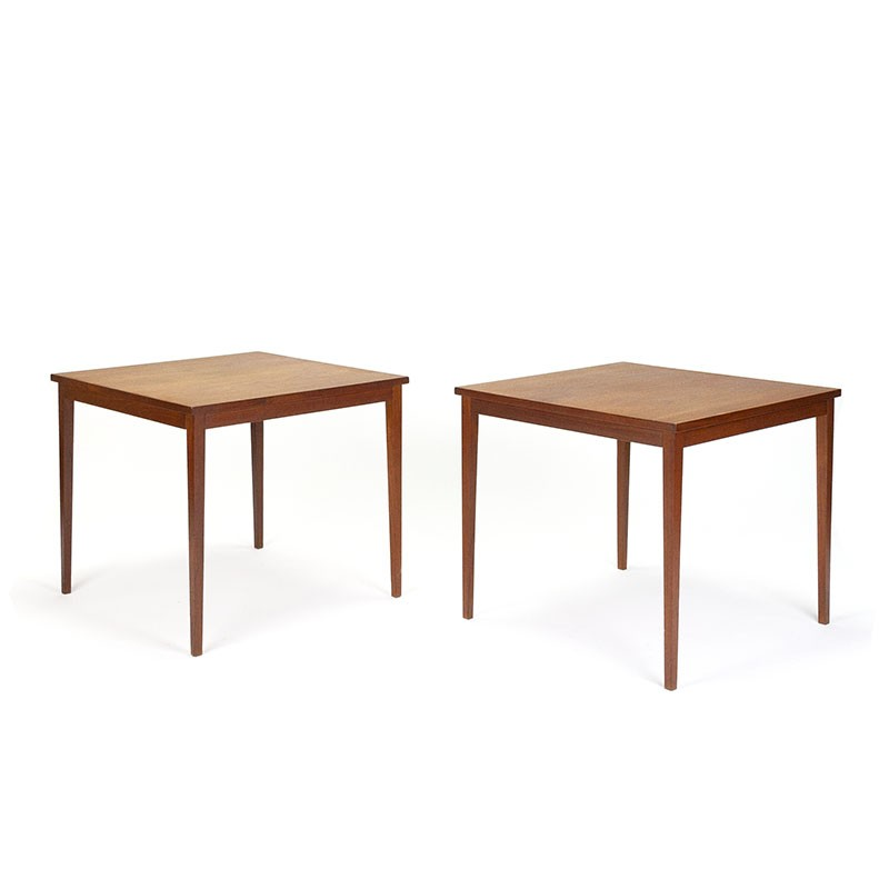 Set of 2 teak Danish vintage side tables