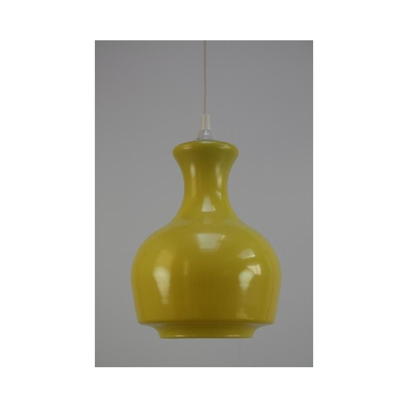 Glass yellow lamp