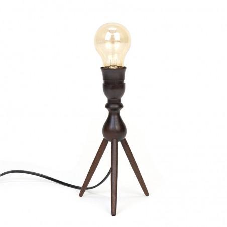 Deens vintage 3-poot tafellampje in teak