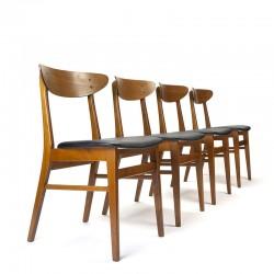 Deense vintage set van 4 Farstrup model 210 stoelen