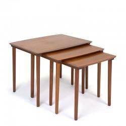 Danish teak vintage set of nesting tables