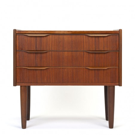 Small model Danish vintage chest of drawers