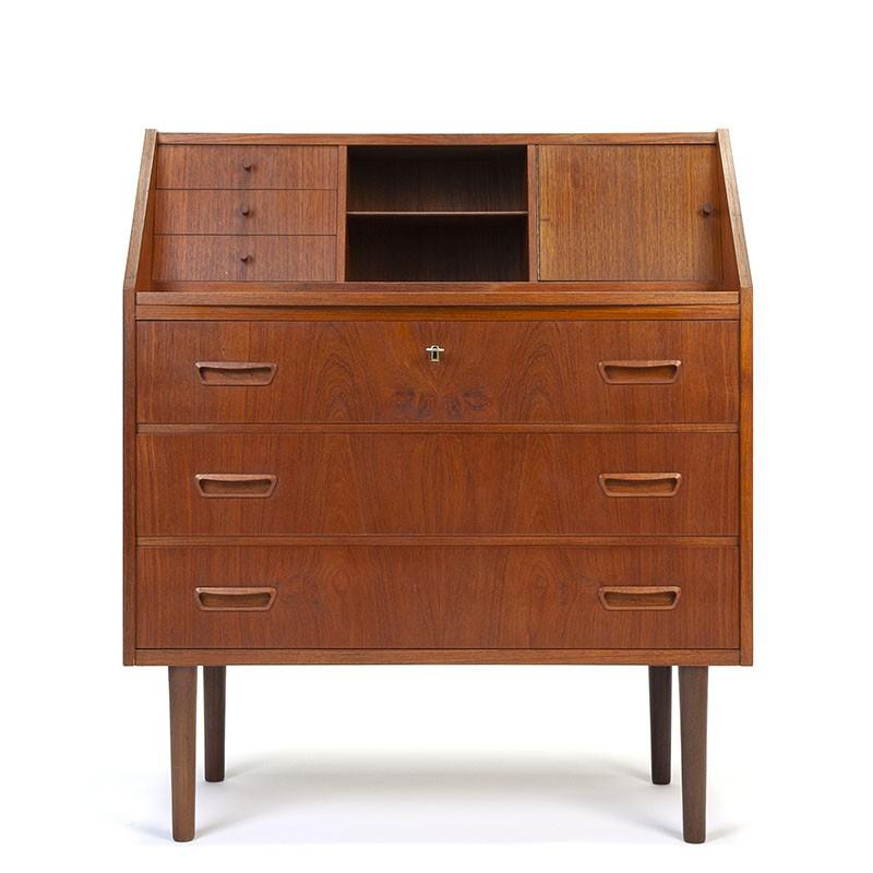 Vintage Danish teak secretary furniture