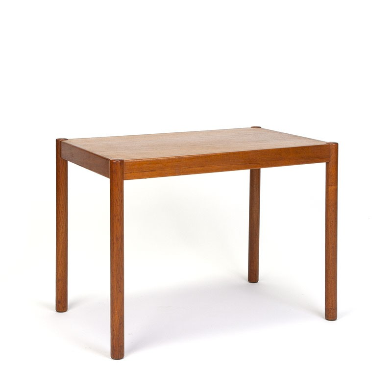Vintage rectangular model Danish side table in teak
