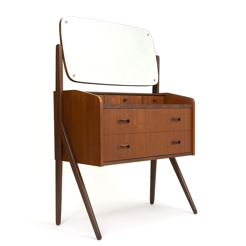 Small model Danish vintage dressing table in teak