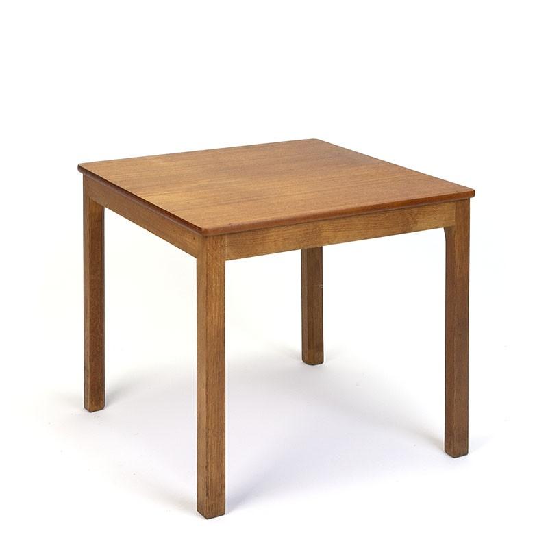 Teak square vintage Danish side table