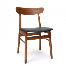 Teak Danish vintage dining table chair marked