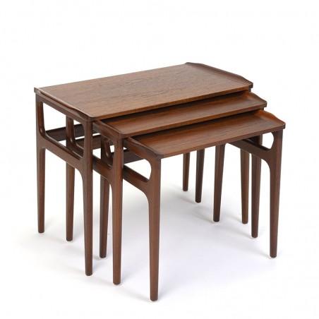 Deense vintage design nesttafels in teak