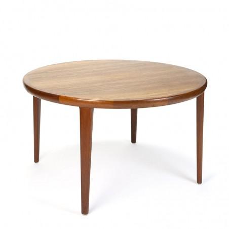 Round Danish vintage dining table design VV Møbler Spottrup