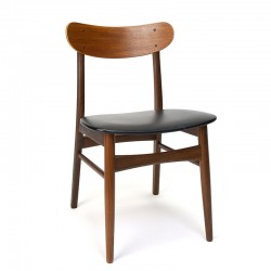 Dining table chair in teak Danish vintage design
