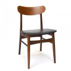 Eettafel stoel in teak Deens vintage design