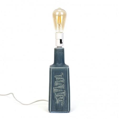 Blauw/ grijze vintage tafellamp ontwerp Desiree Stentøj